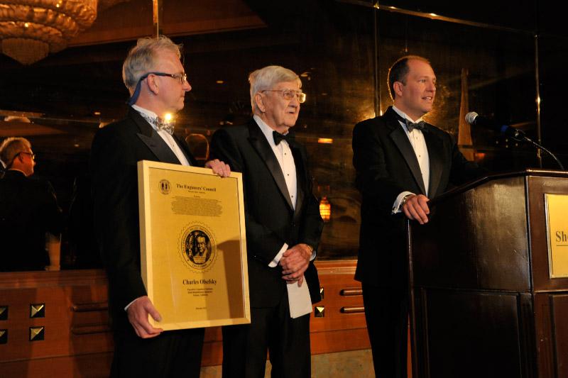 2011 William B. Johnson Award recipient Charles Olsefky w/ William B. Johnson Jr. and Ken Davis