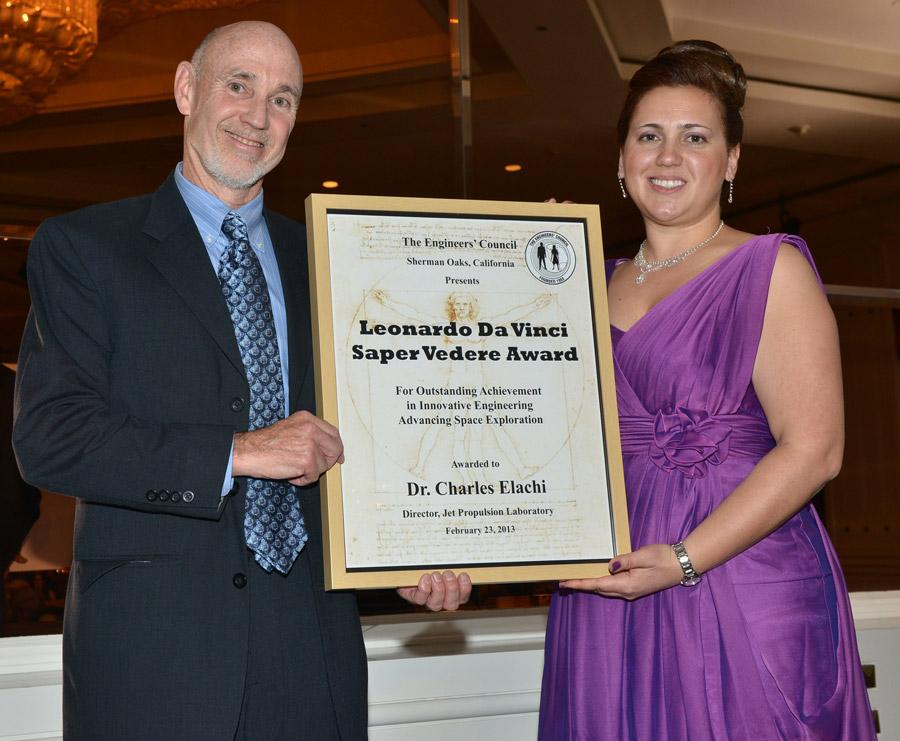 2013 Da Vinci Award recipient Dr. Charles Elachi (JPL)